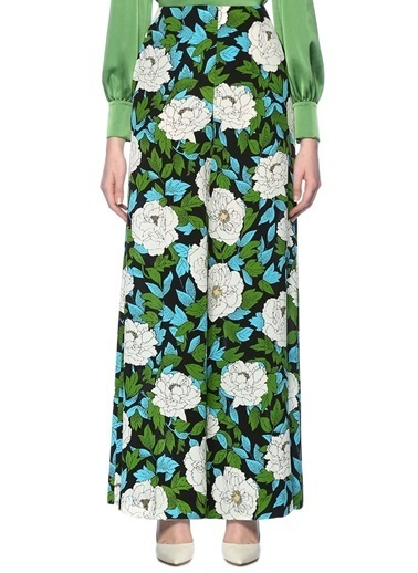 Diane Von Furstenberg Pantolon Yeşil